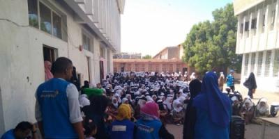 الهجرة الدولية تنفذ برنامج : المساحة الصديقة للطفل في عدد من مدارس عدن