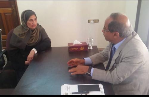 وزير التعليم العالي يلتقي في عدن المستشارة الثقافية بسفارة اليمن لدى مملكة الأردن