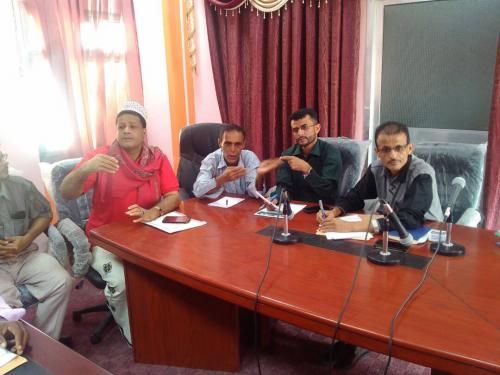 لجنة الاحتفالات بلحج تعقد اجتماعها وتقر برنامج الإحتفالات بذكرى الإستقلال بالمحافظة