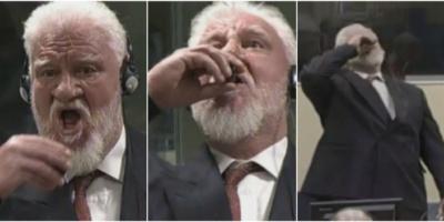 الكشف عن المادة السامة التي تجرعها القائد العسكري لكروات البوسنة المدان بارتكاب جرائم حرب خلال محاكمته
