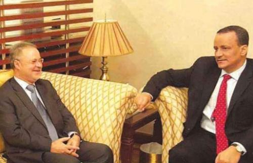 """""""ولد الشيخ"""" يبحث مع وزير الخارجية اليمني تطورات الوضع في صنعاء"""