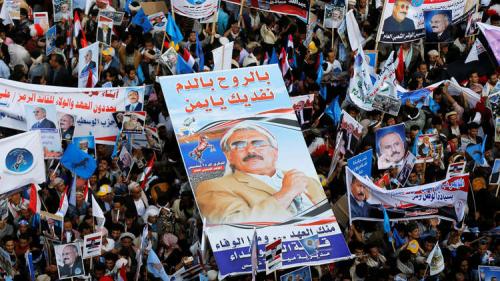 """نجل علي عبدالله صالح يطالب اليمنيين بـ""""الثأر"""" لوالده"""