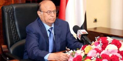 """الرئيس هادي يبعث برقية عاجلة للأمين العام  للامم المتحدة """"غوتيريس """""""