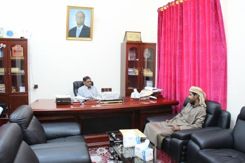 محافظ حضرموت يطلع على الأوضاع الأمنية والخدمية بمديرية القطن
