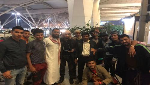 عودة عدد من الجرحى إلى عدن بعد تلقيهم العلاج في الهند على نفقة الإمارات