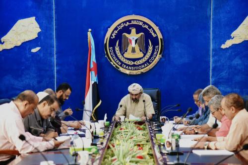 رئاسة المجلس الانتقالي تستكمل مناقشة مشروع النظام الأساسي