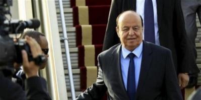 الرئيس هادي يصل الى مقر اقامته المؤقت بالرياض