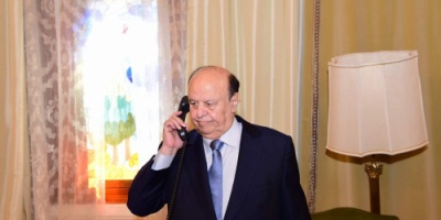 الرئيس هادي يبارك انتصارات الجيش والمقاومة الجنوبية  في بيحان