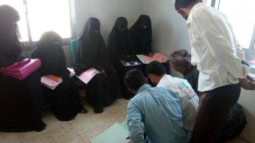 المنسق العام لمؤوسسة الصحة والتعليم (صوت)حبيل جبر يقوم بزيارة الى الوحدة الصحيه الجميعي والهميشي