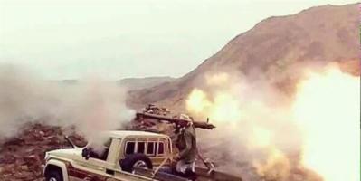 """تجدد المواجهات بين قوات الجيش الوطني ومليشيا الحوثي في جبهة """"#مريس"""""""
