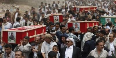 عشرات الجثث لقتلى مسلحي الحوثي بينهم قيادات ميدانية تصل إلى ذمار