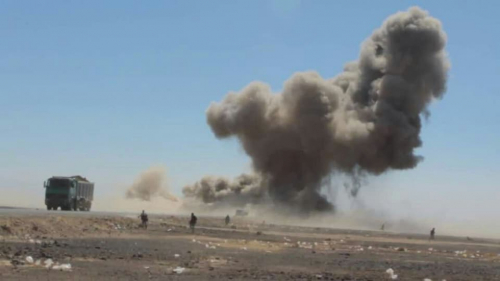 في عملية نوعيّة: طيران التحالف يستهدف حشد قبلي مسلح لميليشيا الحوثي شمال صنعاء