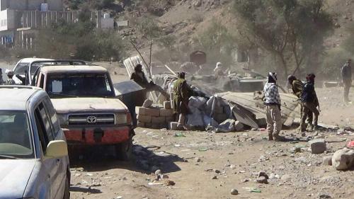 نجاح حملة عسكرية لإزالة النقاط غير القانونية بالضالع