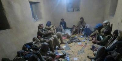 22 مسلحاً حوثياً يسلمون أنفسهم للقوات الحكومية في بيحان