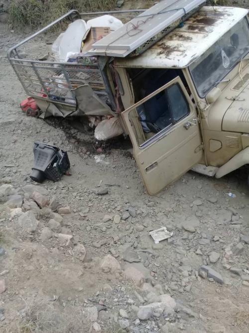 لغم ارضي ينفجر بمركبة نقل في منطقة الجوازعة غرب القبيطة