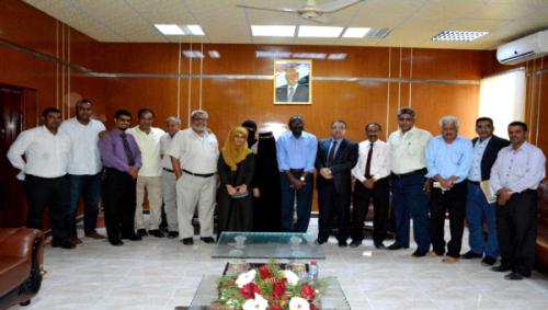 رئيس جامعة عدن يلتقي مدير مكتب منظمة اليونيسيف بعدن