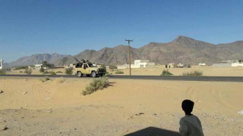 الصبيحة : استهداف طقم وسيارة إسعاف لمليشيات الحوثي بكهبوب