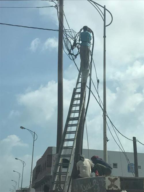 استعداداً للصيف القادم استمرار الصيانة الوقائية للشبكة الكهربائية في المنطقة الاولى