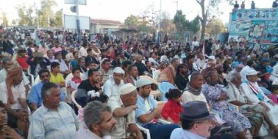 حفل جماهيري حاشد بعدن في ذكرى استشهاد القائد الادريسي ورفاقه