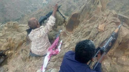 مقتل «7» من مليشيا الحوثي اثر استعادة الجيش الوطني مواقع عسكرية بسوق الخميس بمديرية القبيطة بلحج