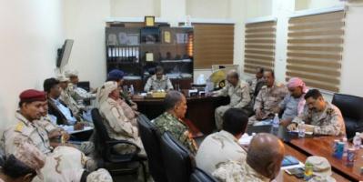 البحسني يعقد اجتماعاً بالقادة العسكريين والأمنيين ويعلن 2018 عاماً لرفع القدرات النوعية للوحدات العسكرية