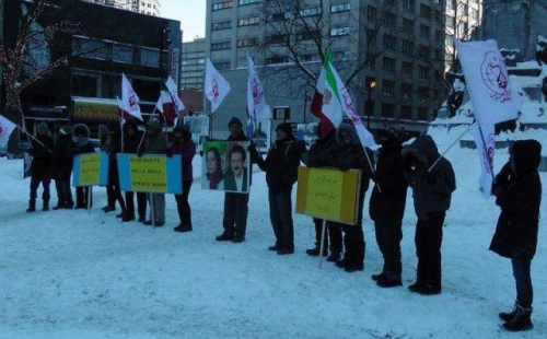 """صور.: الجالية الإيرانية فى كندا تنظم مظاهرة دعما لـ""""ثورة الفقراء"""