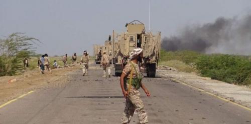 قوات الجيش الوطني تقطع خطوط الإمداد الحوثية بين الحديدة وتعز