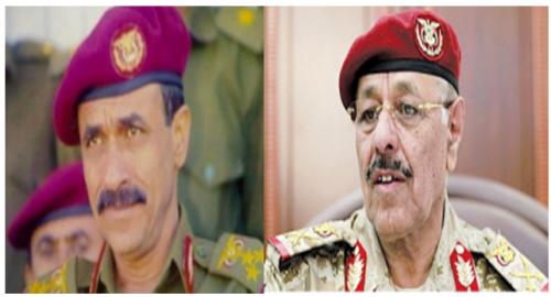 علي محسن يلتقي اللواء علي صالح الاحمر لاول مرة منذ 2011