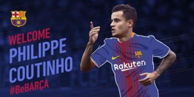 برشلونة يعلن تعاقده مع البرازيلي كوتينيو من ليفربول
