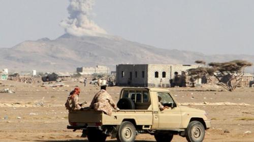 مقاتلات التحالف تستهدف مجاميع حوثية حاولت التسلل إلى الخوخة مع ساعات الصباح الأولى