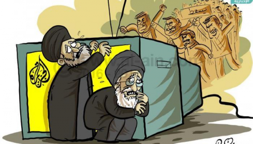 إعلام قطر والملالي يدا بيد للتعتيم على انتفاضة إيران