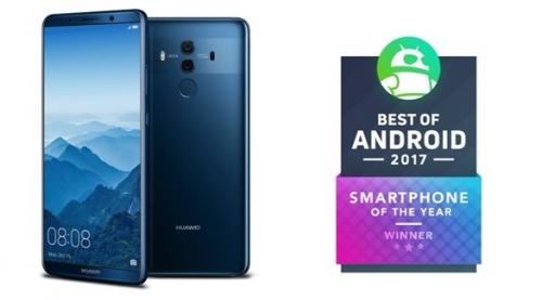 """هواوي """"مايت 10 برو"""" يفوز بجائزة أفضل هاتف ذكي لعام 2017"""