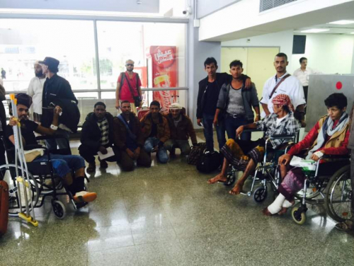 بدعم إماراتي إخلاء ( 68 ) جريحاً من جرحى الساحل الغربي إلى مصر للعلاج