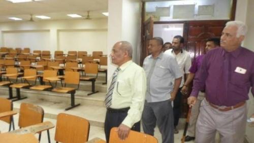 كلية العلوم الإدارية بجامعة عدن تدشن امتحانات الفصل الأول