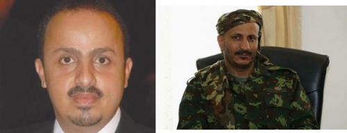 وزير في حكومة الشرعية يلتقي طارق صالح