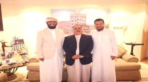 لقاء يجمع هاني بن بريك وسالم صالح محمد في أبوظبي