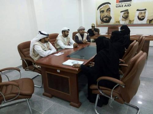 لقاء يجمع الهيئة الإدارية لمنتدى سما والهلال الأحمر الإماراتي  بالمكلا