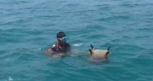 مليشيا الحوثي تفقد خبراء زراعة الألغام البحرية