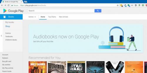 جوجل تعلن عن 50% خصم على اول عملية شراء للكتب الصوتية