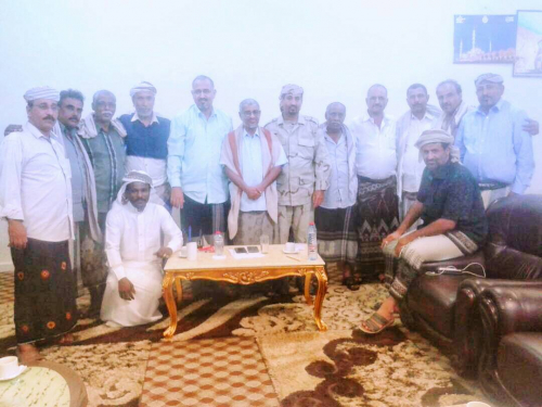عدن : الرئيس الزُبيدي يلتقي عددا من قيادة مقاومة حضرموت