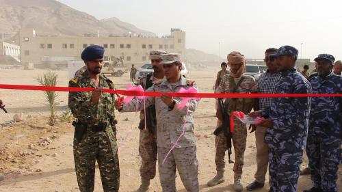 محافظ حضرموت يفتتح منشآت إدارية جديدة وورشة فنية بإدارة أمن ساحل حضرموت