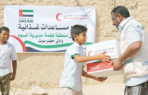 مساعدات إغاثية إماراتية إلى وادي حضرموت وشبوة