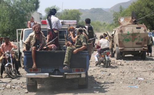 """مقتل القيادي الحوثي المدعو """"أبو حيدر"""" في مواجهات مع الجيش الوطني والمقاومة  في جبهة عصيفرة بتعز"""