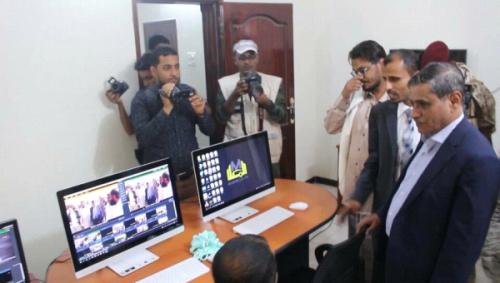 محافظ حضرموت يفتتح البث الرسمي لقناة المكلا المحلية