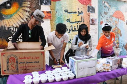 """مبادرة شبابية في مؤسسة """"البيئة والقانون"""" تقيم طبق خيري لصالح دار رعاية المسنين"""