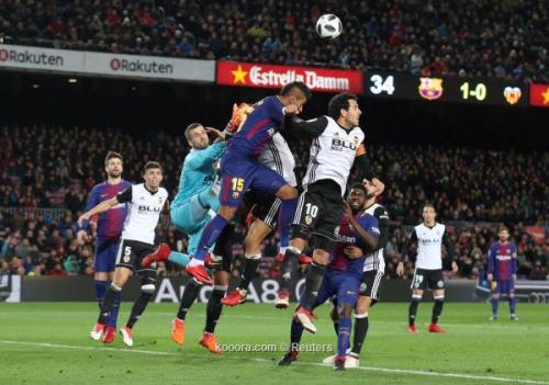 بالصور: برشلونة يؤجل الحسم في كأس الملك بفوز صعب على فالنسيا