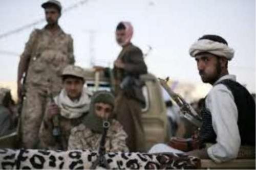 ضبط مركبة عليها قناصات ومناظير ومسدسات للحوثيين بالجوف