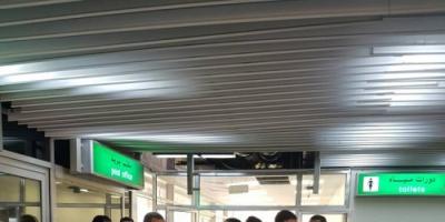 بن نهيد  يتفقد سير العمل في ادارات واقسام مطار  عدن الدولي