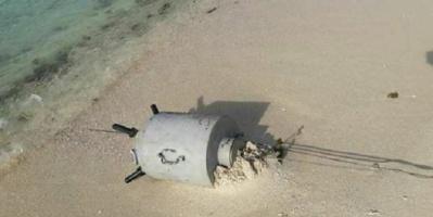 حجة : تفجير الغام بحرية جرفتها المياه لسواحل ميدي