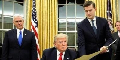 البيت الأبيض: استقالة مستشار لترامب بعد فضيحة تعنيفه زوجتيه